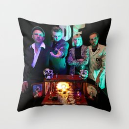 Das Fenster & the Alibis Band Photo Throw Pillow