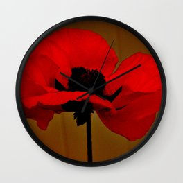 POPPIES - DARK Wall Clock