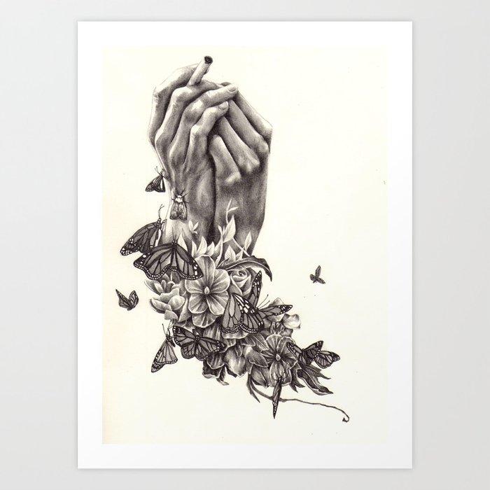 Pray for Nature Art Print