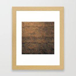 Scratched Suede Tobacco Framed Art Print