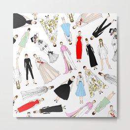 Audrey Hepburn Fashion (Scattered) Metal Print