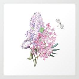 lilac watercolor Art Print