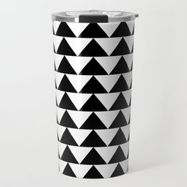 Black & White Triangles Travel Mug