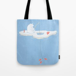 Gone Ice Fishin' Tote Bag