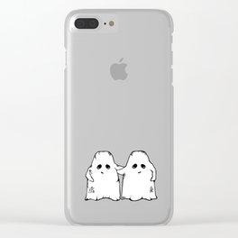 Ghost Friend Clear iPhone Case