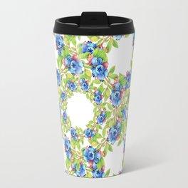 Maine Blueberries Lattice Design Travel Mug