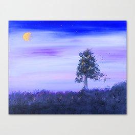 """Tree Line #7"" Original Painting Enhanced Canvas Print"