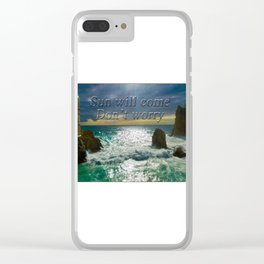 Tremendous Nature - Beautiful stormy weather Clear iPhone Case