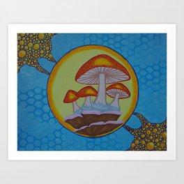 brite psilocybe Art Print