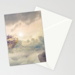 Wonderful Beautiful Fantasy Princess Levitating Kingdom In The Heaven Clouds Dreamland Ultra HD Stationery Cards