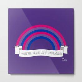 Bi pride rainbow Metal Print