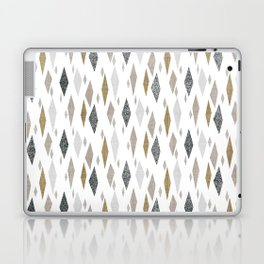 Danish Diamond Mid-Century Geometric Print Tan Laptop & iPad Skin