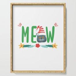 20% OFF ! Christmas British Shorthair Cat Santa Serving Tray