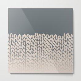 Half Knit Ombre Nat Metal Print