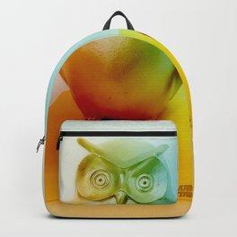 Midcentury Owl and Vase Vintage Still Life Backpack