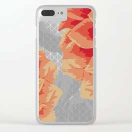 Survival of Strong Flowers Clear iPhone Case