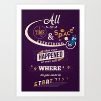 risa rodil Art Prints featuring Time and Space by Risa Rodil