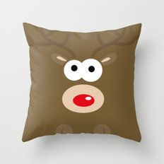 Minimal Reindeer  Throw Pillow