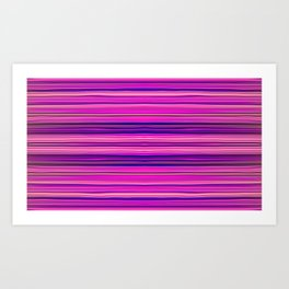 Pink Rock Candy Stripe IV by Chris Sparks Art Print