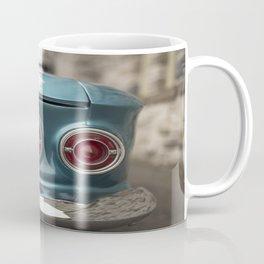 Vintage Chevy Turquoise Blue & Red Coffee Mug