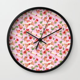 Roses Love Notes Wall Clock