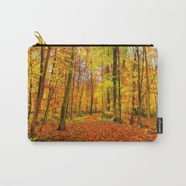 Autumn Forest with Fallen Leaves Carry-All Pouch