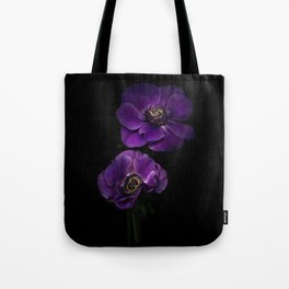 Two Purple Anemones Tote Bag