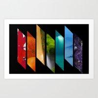 Nature's own rainbow Art Print