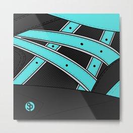 Diamond x Kith - Asics gel saga Tiffany/Black Metal Print