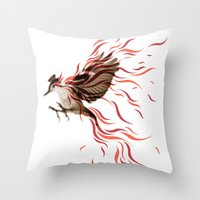 freedom Throw Pillows featuring freedom by Steven Toang