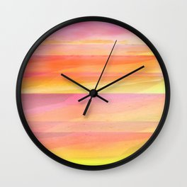 Seascape in Shades of Yellow and Peach Wall Clock