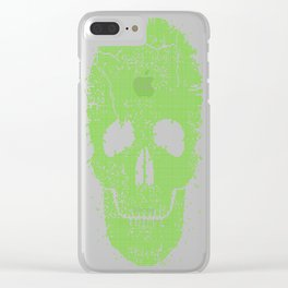 Acid-Skull---Toxic-Green Clear iPhone Case