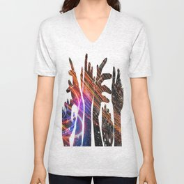 Reaching For The Galaxy Unisex V-Neck