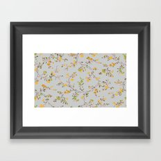 vintage floral vines - spring colors Framed Art Print