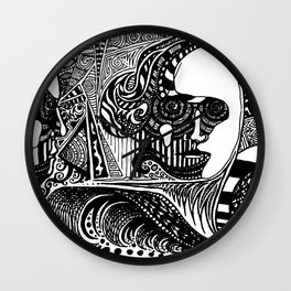 Head Trip Wall Clock