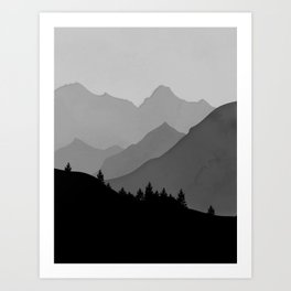 Above the tree line Art Print