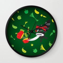veggie kung fu coon master Wall Clock
