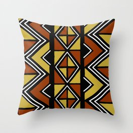 Big mud cloth tiles Throw Pillow