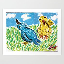 SpringBirds Art Print