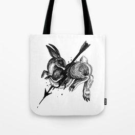 Hunted Rabbit Tote Bag