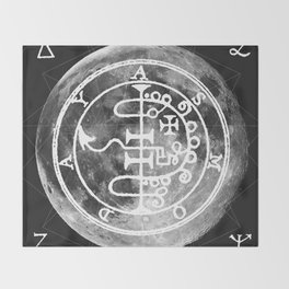 The Witches Moon Throw Blanket