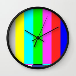 SMPTE color bars | TV Color Test Bars | Stand By Colour Bars Wall Clock