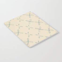 Abstract Astral Pattern in Yellow & Green Notebook