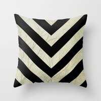 decal Throw Pillows featuring Bold by Charlene McCoy