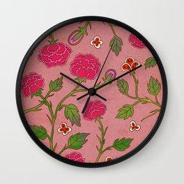 Minhwa: Peony Pattern A Type Wall Clock