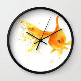 Colorful Goldfish Wall Clock