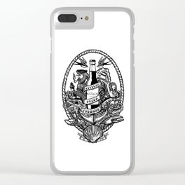 Cerveza Mustache Clear iPhone Case