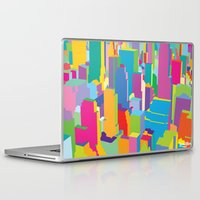 cityscape Laptop & iPad Skins featuring Cityscape by Glen Gould
