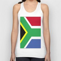 south africa Tank Tops featuring South Africa Flag (1994) by D.A.S.E. 3