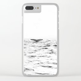 WHITE - SEA - WAVES - WATER - WHALE - NATURE - ANIMAL - PHOTOGRAPHY Clear iPhone Case